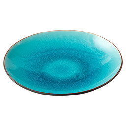 PLATE ASIA D21 CM TURQUOIS/BLACK