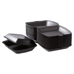 TAKE AWAY BOX BLACK 1-COMPARTMENT