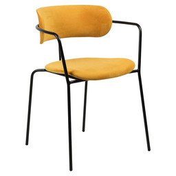 OLIVIA CITRUS ARMCHAIR - YELLOW