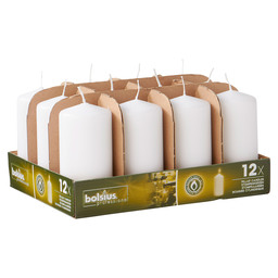 PILLAR CANDLES 12/6 TR12 WHITE