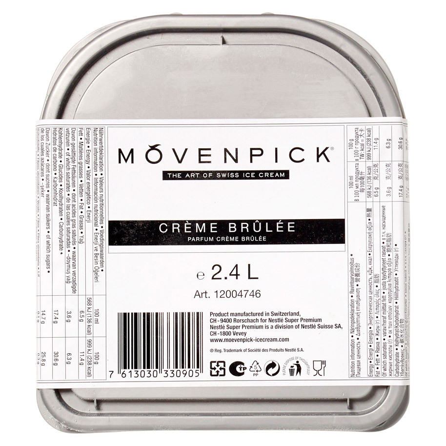 GLACE CREME BRULEE MOVENPICK ALL NATURAL