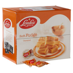 LONKA FUDGE CARAMEL SINGLE WRAPPED