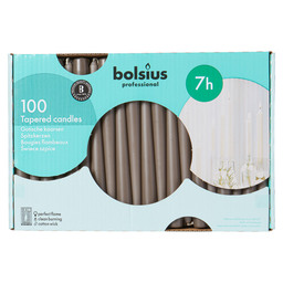 BOUGIE GOTHIQUE TAUPE 240/23