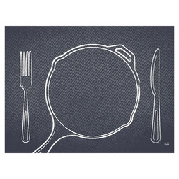 PLACEMAT PAPER 30X40CM PLATE IT