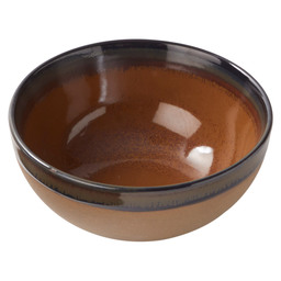 BOWL SURFACE 15X6,5CM RUST-BROWN
