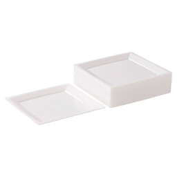 MILAN SIDE PLATE WHITE 135X135MM WHITE