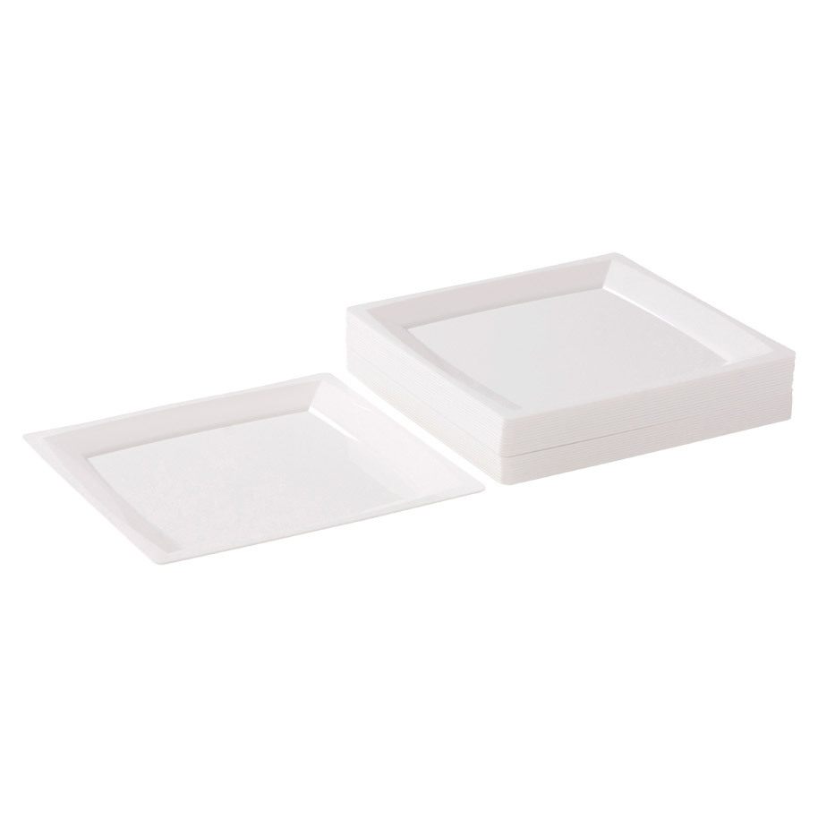 MILAN SALAD PLATE 170X170 MM WHITE