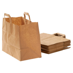CARRIER BAG BROWN PAPER 32X17X25CM