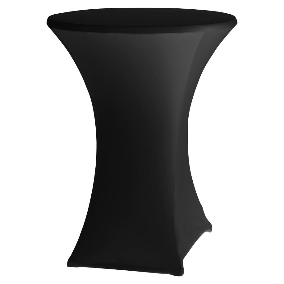 TABLE COVER BASIC D2 PL 80-85CM BLACK (3