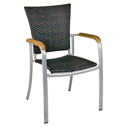 BAJA SILVER TERRACE CHAIR MOCCA FLAT-SIL