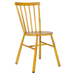 LUCCI CHAIR ALU - VINTAGE YELLOW