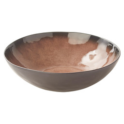 BOWL 10.5X6.5 CM PURE BROWN FLAMED