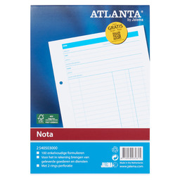 NOTEPAD A5 WHITE 100S