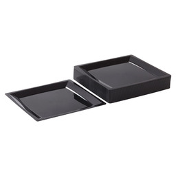 MILAN SALAD PLATE 170X170 MM BLACK