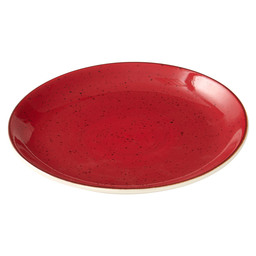 PLATE RUSTIC COUP SURFACE 19CM RED