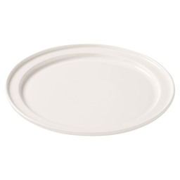 PLATE WITH GROOVED EDGE 25 CM
