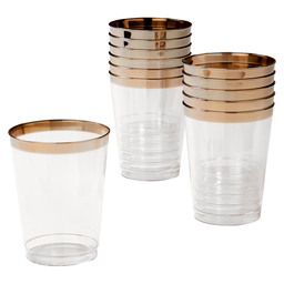 WATER GLASS METALLIZED-DISPOSABLE