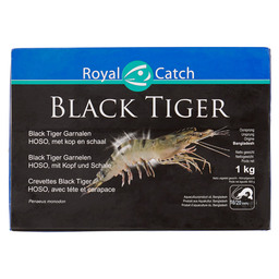 BLACK TIGER HOSO SHRIMP WITH HEAD 16/20