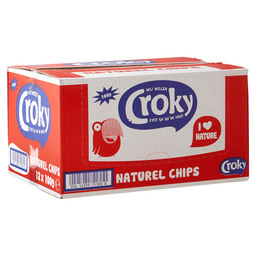 CHIPS NATUREL 100GR CROKY
