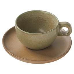 CAPPUCCINO CUP AND PLATTER SURFACE GREEN