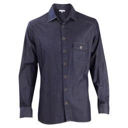 OVERHEMD HEREN DENIM BLAUW 3XL