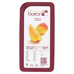 FROZEN FRUIT PUREE 100%: MANGO 1KG