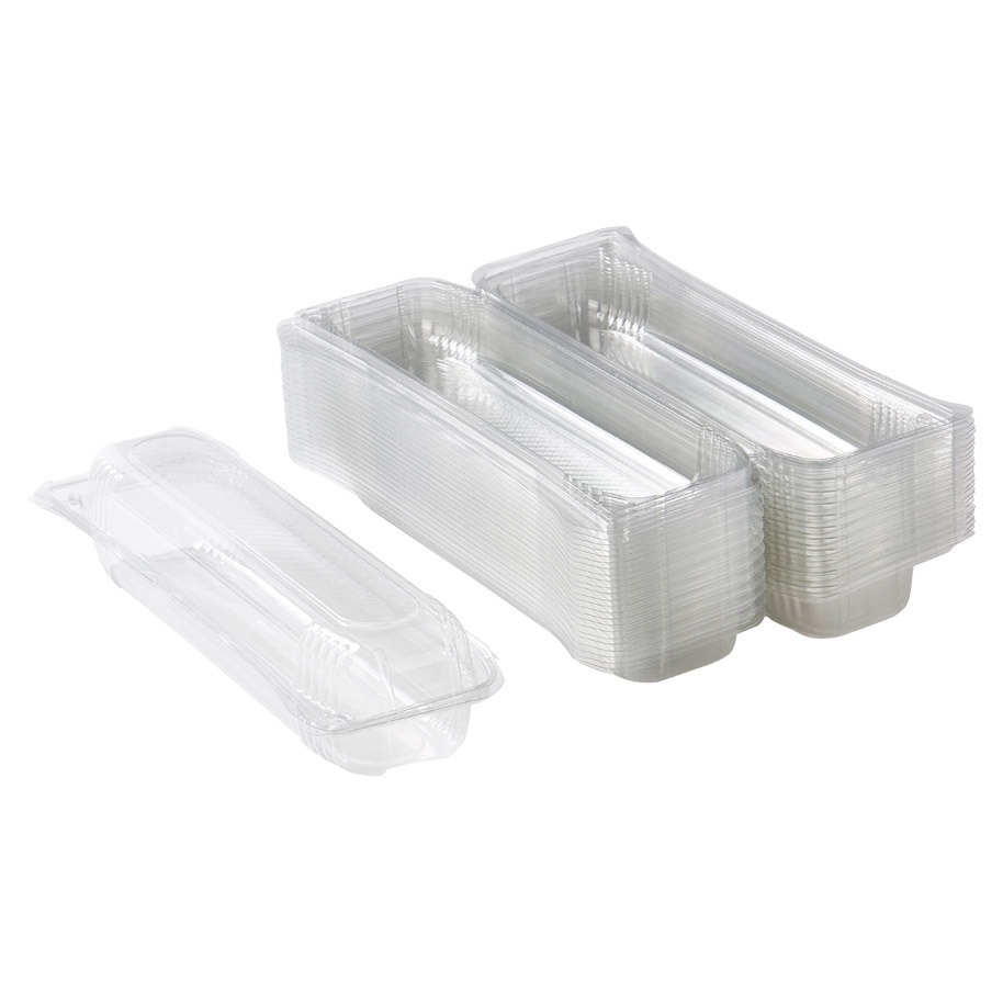 BAGUETTE TRAY 31CM GLASS CLEAR