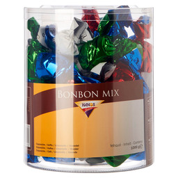 BONBONS MIX 4 TYPES TRANSPARENT TUB