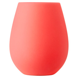 LED CANDLE HOLDER SILIC.103X85MM RED