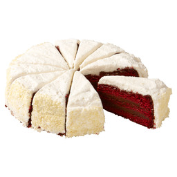 RED VELVET CHOCOLATE FUDGE CAKE 12P