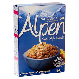 ALPEN MUESLI NO SUGAR ADDED