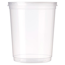 SOUP POT+LID 1L PP WHITE