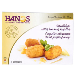 CROQUETTES CHICON JAMBON FROMAGE 65GR
