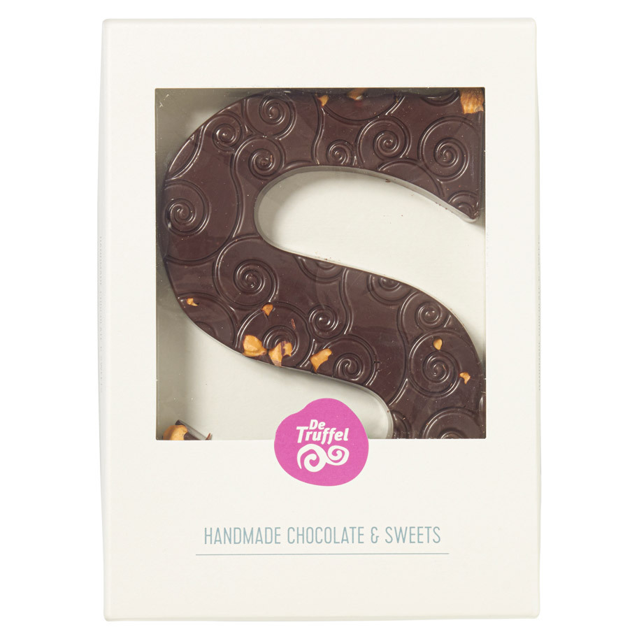CHOCOLADE LETTER PUUR HAZELNOOT