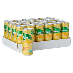 FUZE TEA SPARKLING BLACK TEA LEMON 25CL