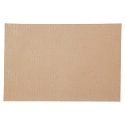PLACEMAT 30X45CM LEATHER LOOK BEIGE