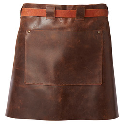 APRON LEATHER 40CM LADIES COGNAC