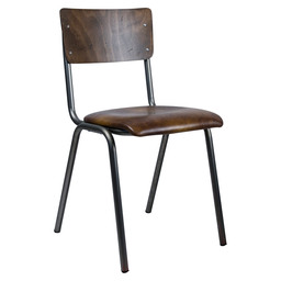 SKOOL CHAIR-  S. ART. LEATHER - B. BEECH