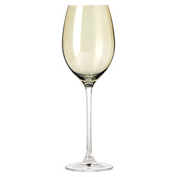 WINE GLASS 400ML GREEN LUCENTE