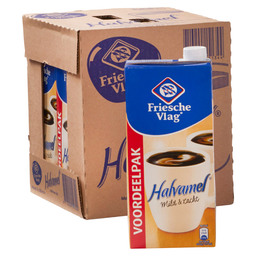COFFEE CREAM SEMI-SKIMMED 1L CARTONS