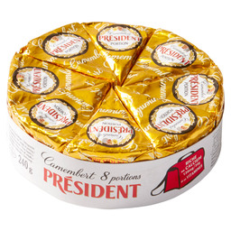 CAMEMBERT 240GR PORTION SLICE PRESIDENT