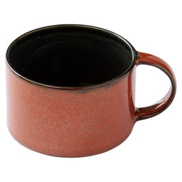 COFFEE CUP D8 H5,1 DARK BLUE/RUST