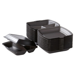 TAKE AWAY BOX BLACK 3-COMPARTMENT