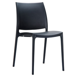 MAYA CHAIR PVC BLACK