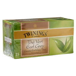 THEE EARL GREY  TWININGS GREEN TEA