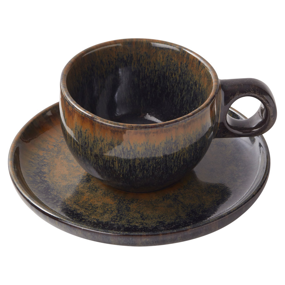 COFFEE CUP AND PLATTER SURFACE INDI-GRAY