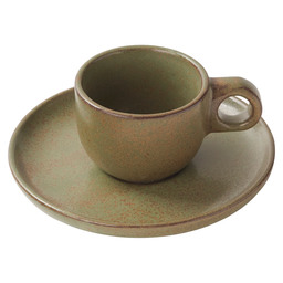 ESPRESSO CUP AND PLATTER SURFACE GREEN