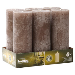 BLOCK CANDLE RUSTIC TAUPE 190/68