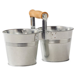 SERVING BUCKET DUO GEG.STAAL 10CM