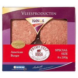 HAMBURGER SUPER AMERIKAANS 8X200GR